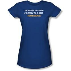 Funny Tees - Juniors 24 Beers Sheer T-Shirt