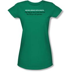 Funny Tees - Juniors Argue With Idiots Sheer T-Shirt