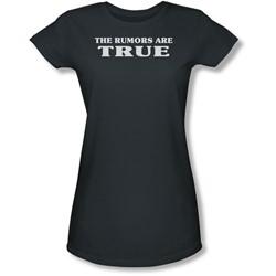 Funny Tees - Juniors Rumors Are True Sheer T-Shirt