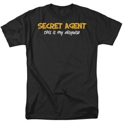 Funny Tees - Mens Secret Agent T-Shirt