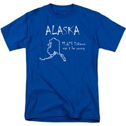 Funny Tees - Mens Alaska T-Shirt