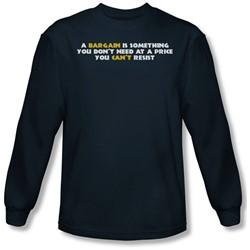 Funny Tees - Mens A Bargain Longsleeve T-Shirt