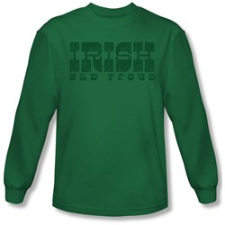 Funny Tees - Mens Irish And Proud Longsleeve T-Shirt