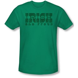 Funny Tees - Mens Irish And Proud Slim Fit T-Shirt