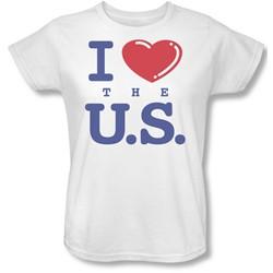 Funny Tees - Womens I Love The Us T-Shirt