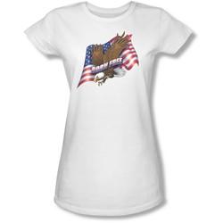 Funny Tees - Juniors Born Free Sheer T-Shirt