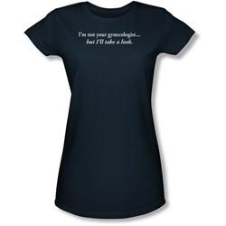 Funny Tees - Juniors Gynecologist Sheer T-Shirt