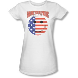 Funny Tees - Juniors Smile Sheer T-Shirt