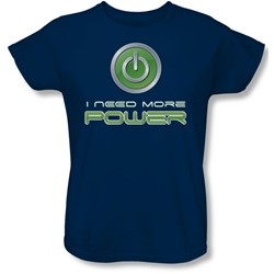 Funny Tees - Womens More Power T-Shirt