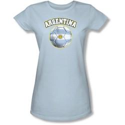 Funny Tees - Juniors Argentina Sheer T-Shirt