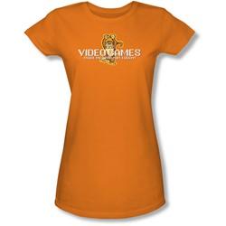 Funny Tees - Juniors Video Games Sheer T-Shirt