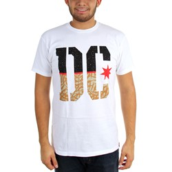 DC - Young Mens Rd Split Stencil T-Shirt
