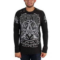 Affliction - Mens Peace Pipe Reversible Thermal