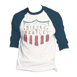 Dierks Bentley - Mens Faith Love Freedom Raglan