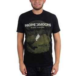 Imagine Dragons - Mens Flame Black T-Shirt