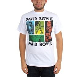 David Bowie - Mens Colored Squares T-Shirt