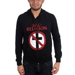 Bad Religion - Mens Distressed Crossbuster Hoodie
