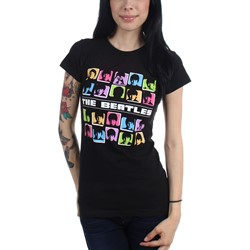 The Beatles - Womens Hard Day Colors T-Shirt