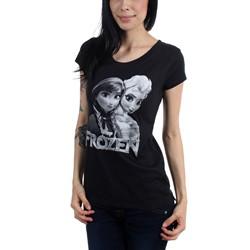 Freeze - Juniors Frozen Sisters Scoop Neck T-Shirt