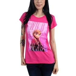 Freeze - Juniors Frozen Wild Heart Scoop Neck T-Shirt