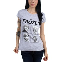 Freeze - Juniors Frozen 4 Boxes Scoop Neck T-Shirt