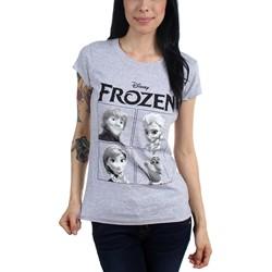 Freeze - Juniors Frozen 4 Boxes Scoop Neck T-Shirt