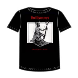 Hellhammer - Red Logo Apocalyptic Raids Adult T-Shirt In Black