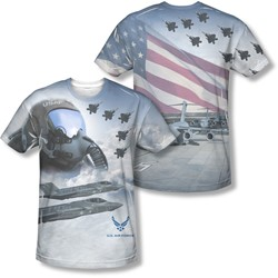 Air Force - Mens Pilot (Front/Back Print) T-Shirt