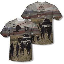 Army - Mens Values (Front/Back Print) T-Shirt