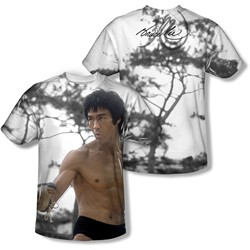 Bruce Lee - Mens Battle Ready (Front/Back Print) T-Shirt