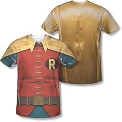 Batman - Mens Robin Costume (Front/Back Print) T-Shirt