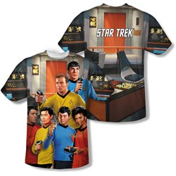 Star Trek - Mens Bridge (Front/Back Print) T-Shirt