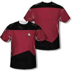 Star Trek - Mens Tng Command Uniform (Front/Back Print) T-Shirt