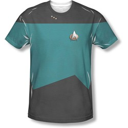Star Trek - Mens Tng Science Uniform T-Shirt