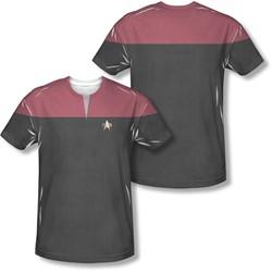 Star Trek - Mens Voyager Command Uniform (Front/Back Print) T-Shirt