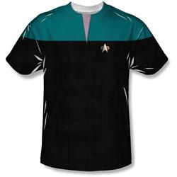 Star Trek - Mens Voyager Science Uniform T-Shirt