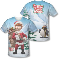 Santa Claus Is Comin To Town - Mens Helpers (Front/Back Print) T-Shirt