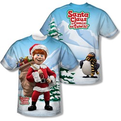 Santa Claus Is Comin To Town - Youth Helpers (Front/Back Print) T-Shirt