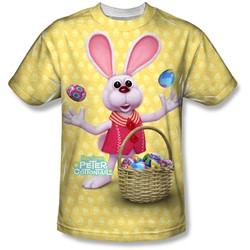 Here Comes Peter Cottontail - Mens Basket Of Eggs T-Shirt
