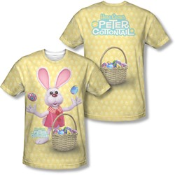 Here Comes Peter Cottontail - Mens Basket Of Eggs (Front/Back Print) T-Shirt