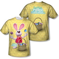 Here Comes Peter Cottontail - Youth Basket Of Eggs (Front/Back Print) T-Shirt