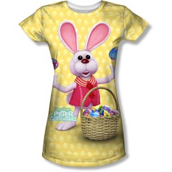 Here Comes Peter Cottontail - Juniors Basket Of Eggs T-Shirt
