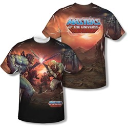 Masters Of The Universe - Mens Battle (Front/Back Print) T-Shirt