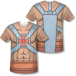 Masters Of The Universe - Mens He Man Costumes (Front/Back Print) T-Shirt