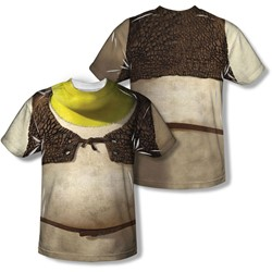 Shrek - Mens Costume (Front/Back Print) T-Shirt