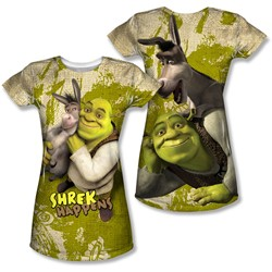 Shrek - Juniors Best Friends (Front/Back Print) T-Shirt