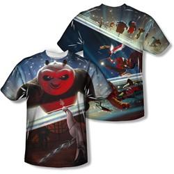 Kung Fu Panda - Mens Epic Jumping (Front/Back Print) T-Shirt