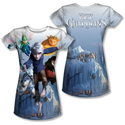 Rise Of The Guardians - Juniors Together Now (Front/Back Print) T-Shirt