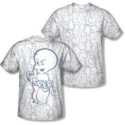 Casper - Mens Friendly Ghost (Front/Back Print) T-Shirt