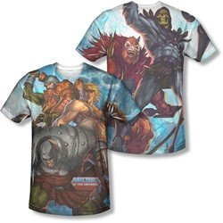 Masters Of The Universe - Mens Heroes And Villains (Front/Back Print) T-Shirt